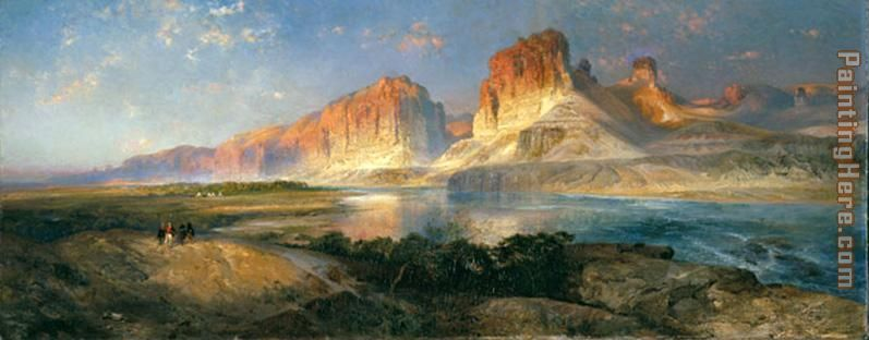 Nearing Camp on the Upper Colorado River painting - Thomas Moran Nearing Camp on the Upper Colorado River art painting