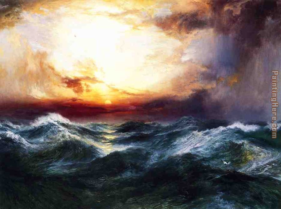 Sunset after a Storm painting - Thomas Moran Sunset after a Storm art painting