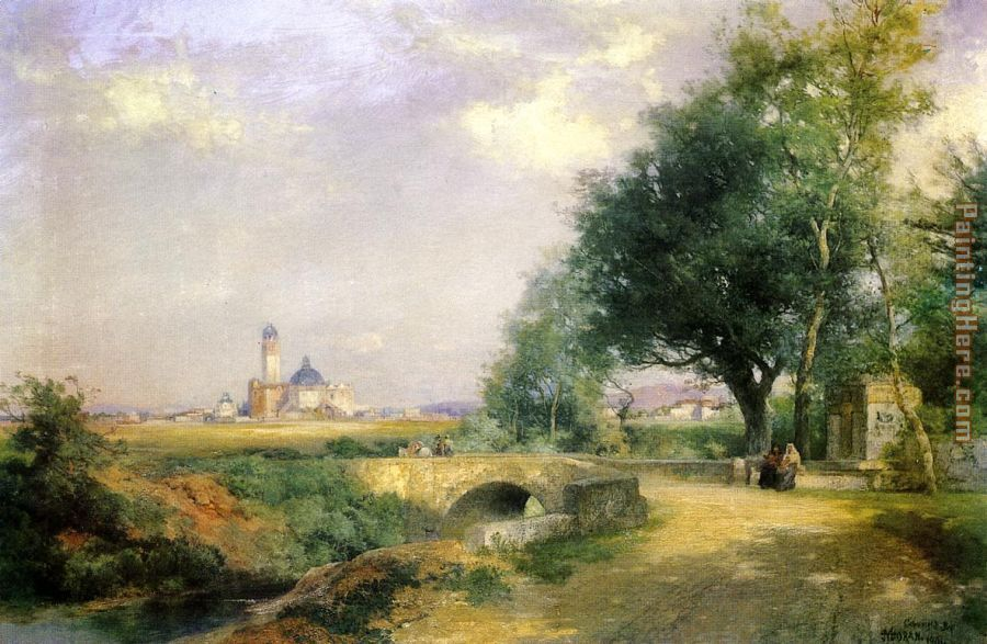 Teoloyucan,Mexico painting - Thomas Moran Teoloyucan,Mexico art painting