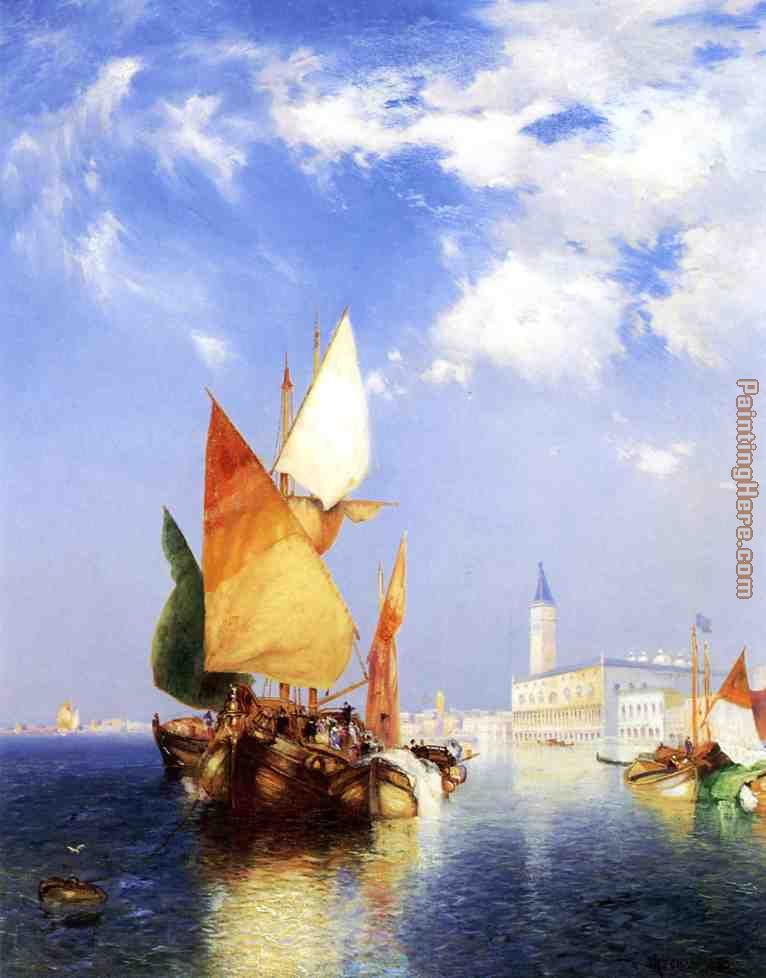 Thomas Moran The Grand Canal,Venice Art Painting