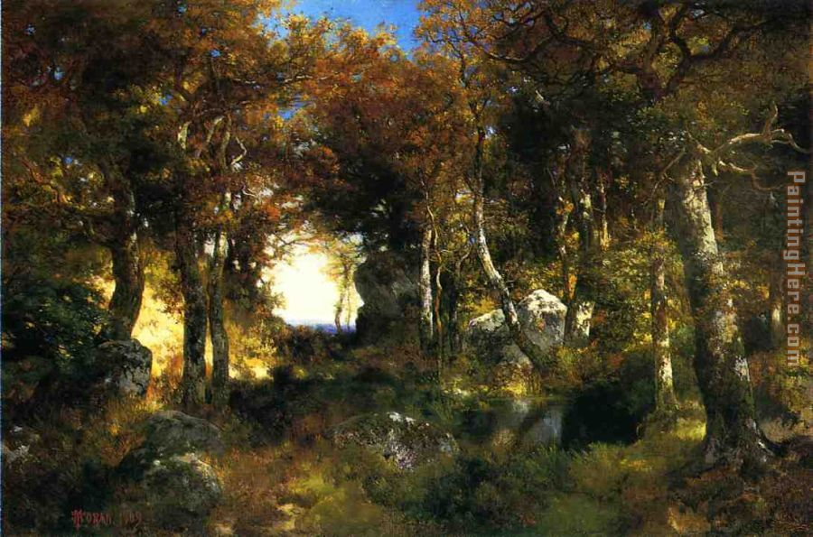 The Woodland Pool painting - Thomas Moran The Woodland Pool art painting