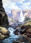 Waterfall in Yosemite by Thomas Moran