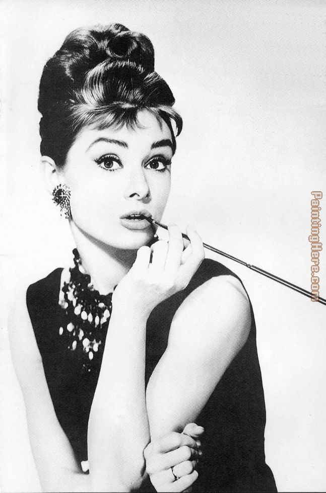 Audrey Hepburn painting - Unknown Artist Audrey Hepburn art painting