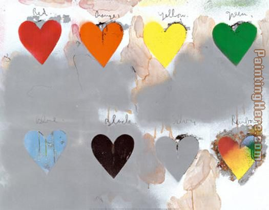 Jim Dine Hearts painting - Unknown Artist Jim Dine Hearts art painting