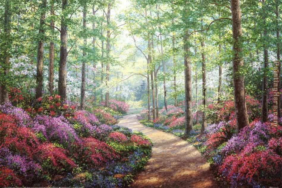 Unknown Artist Woodland Walk Art Painting