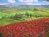 TUSCANY POPPIES by Unknown Artist