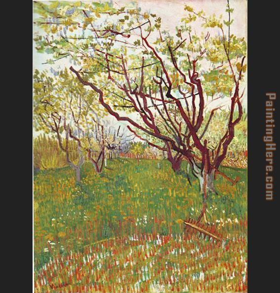 Vincent van Gogh Cherry Tree Art Painting