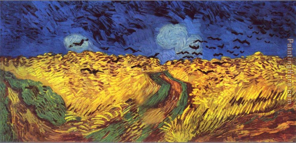 Vincent van Gogh Crows over wheat field Art Painting