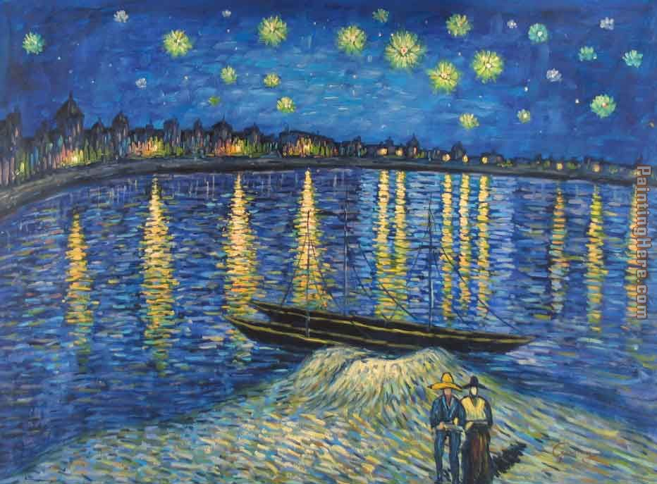 Starry Night Over the Rhone 2 painting - Vincent van Gogh Starry Night Over the Rhone 2 art painting