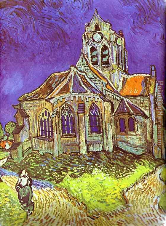 The Church in Auvers painting - Vincent van Gogh The Church in Auvers art painting