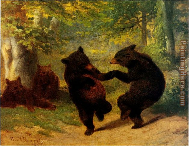 Dancing Bears painting - William Beard Dancing Bears art painting