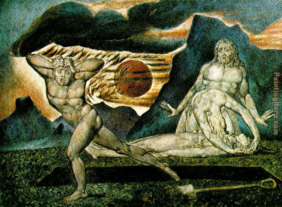 the Body of Abel Found by Adam and Eve painting - William Blake the Body of Abel Found by Adam and Eve art painting