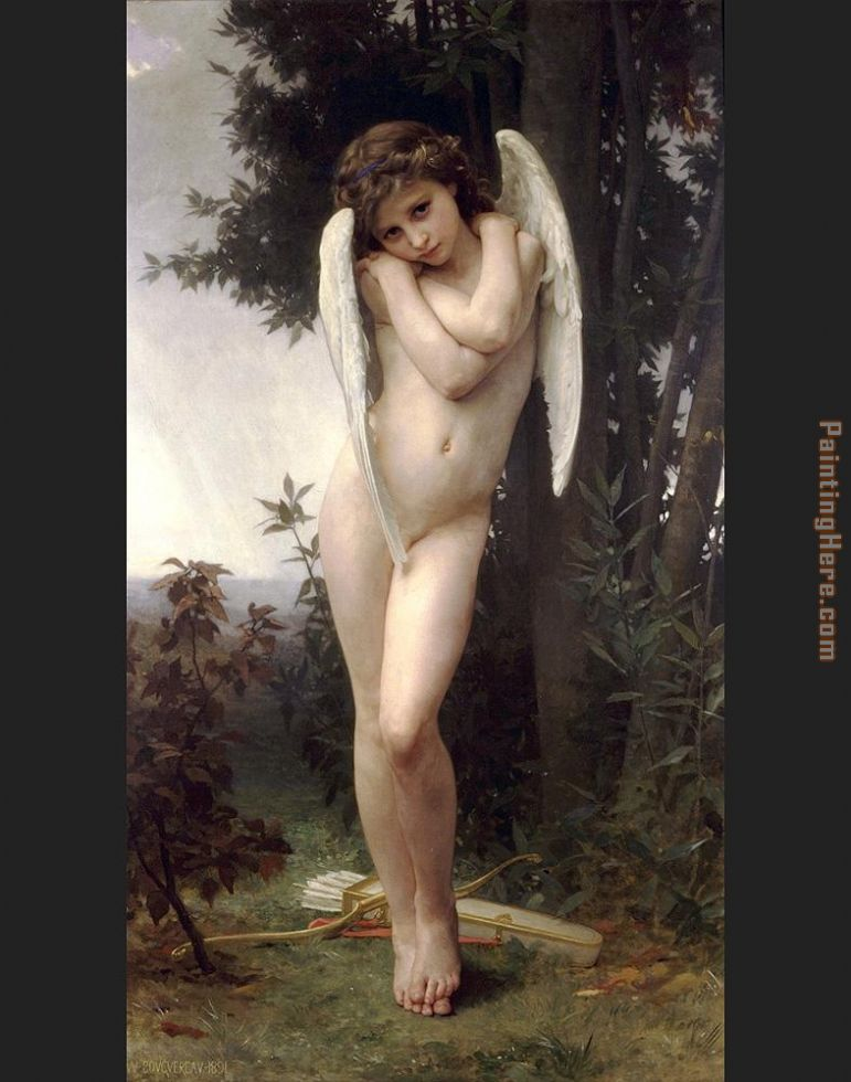 Wet Cupid painting - William Bouguereau Wet Cupid art painting