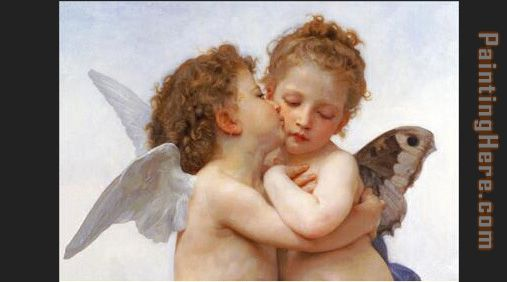 William Bouguereau the first kiss Art Painting