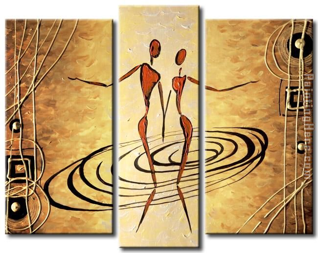 Abstract 41434 Stretched Canvas Painting