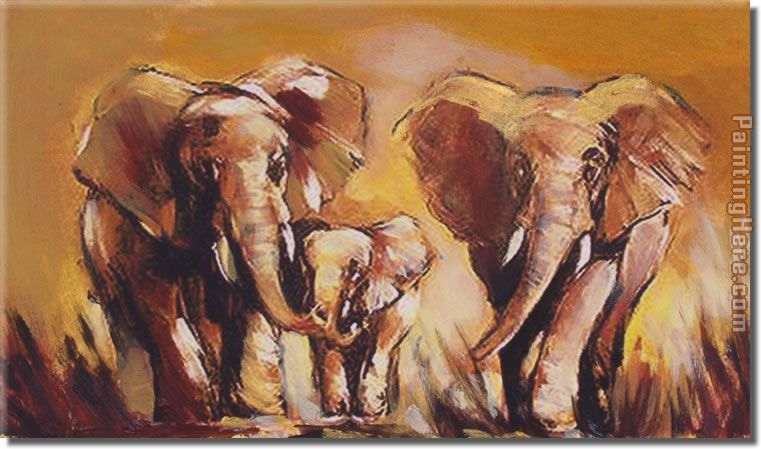 Animal 8137 Stretched Canvas Painting