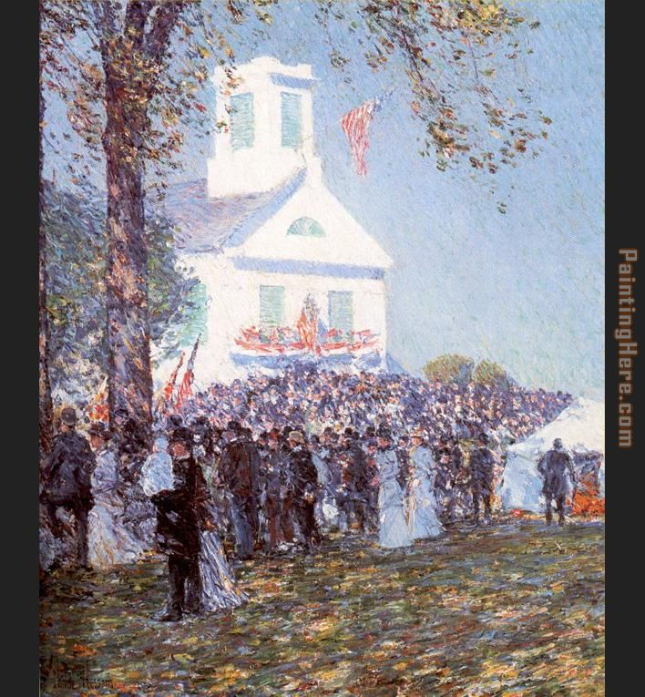 County Fair New England painting - childe hassam County Fair New England art painting