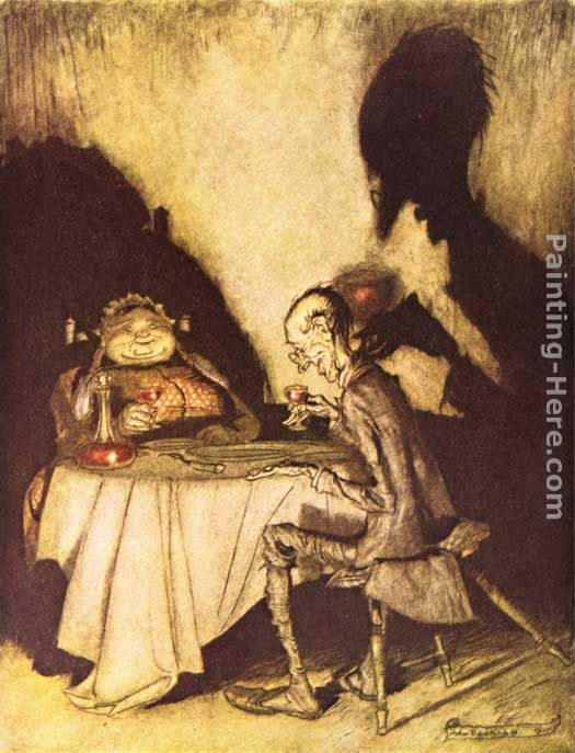 Mother Goose Jack Sprat and His Wife painting - Arthur Rackham Mother Goose Jack Sprat and His Wife art painting