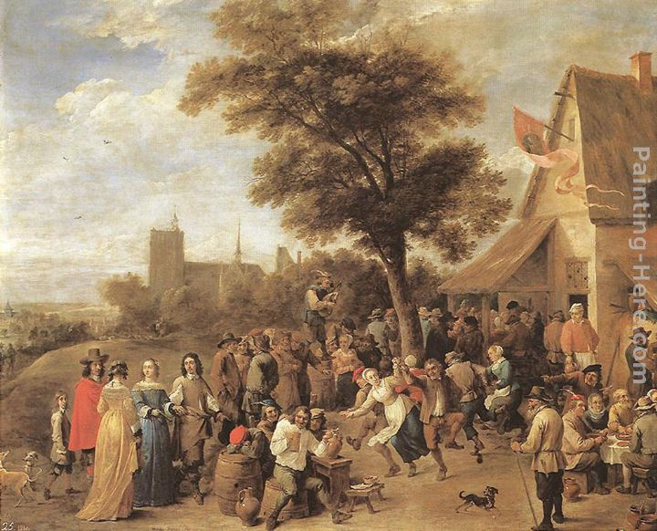 Peasants Merry-making painting - David the Younger Teniers Peasants Merry-making art painting