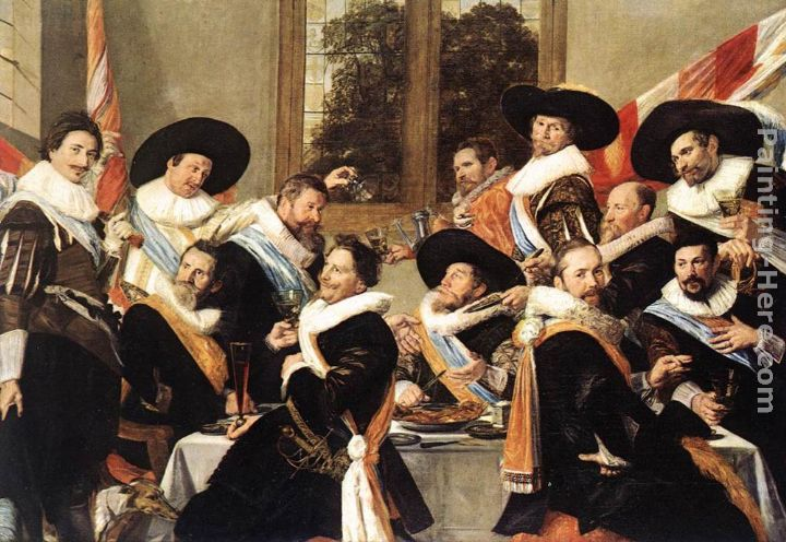 Frans Hals Banquet of the Officers of the St George Civic Guard Company Art Painting
