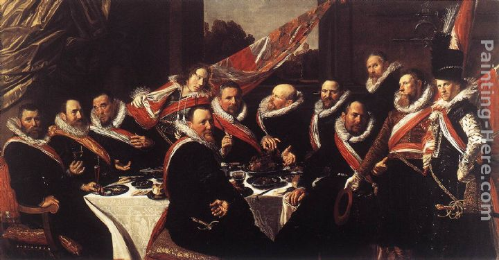 Banquet of the Officers of the St. George Civic Guard painting - Frans Hals Banquet of the Officers of the St. George Civic Guard art painting