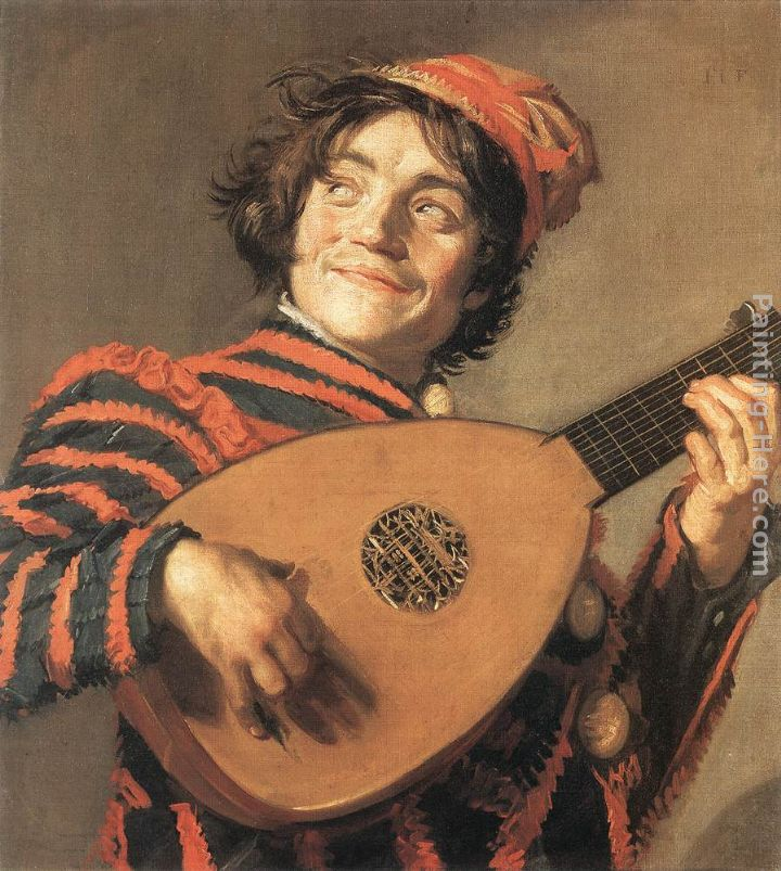 Buffoon Playing a Lute painting - Frans Hals Buffoon Playing a Lute art painting