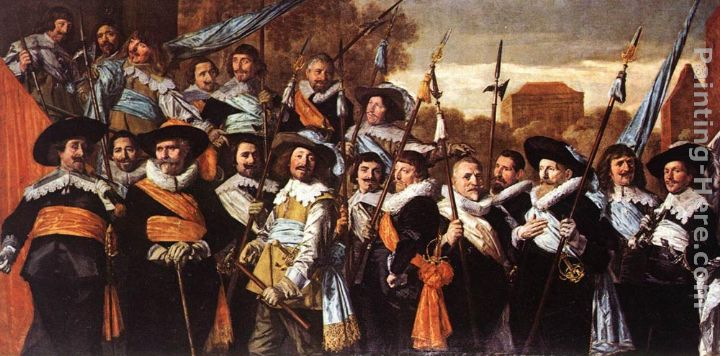 Frans Hals Officers and Sergeants of the St George Civic Guard Company Art Painting