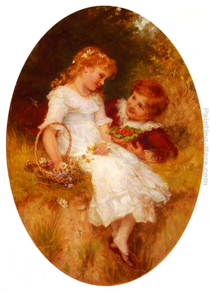 Childhood Sweethearts painting - Frederick Morgan Childhood Sweethearts art painting