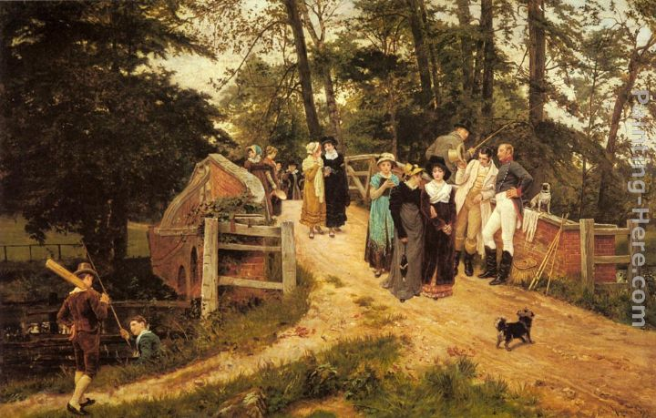Frederick Morgan The School Belles Art Painting