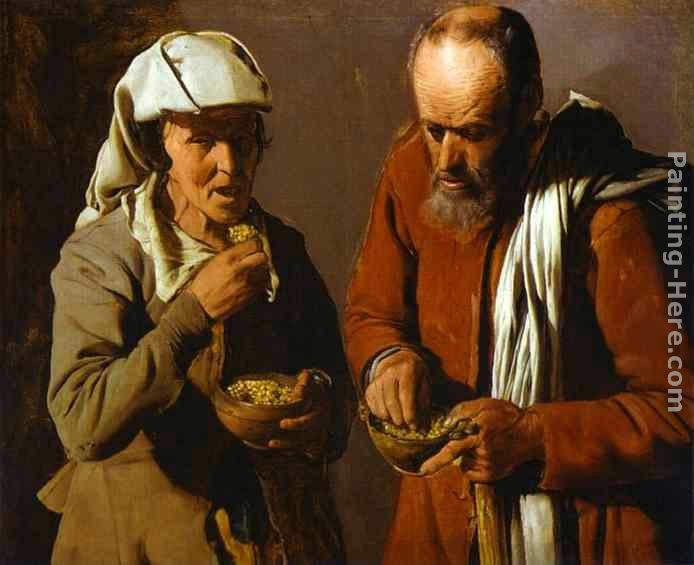 The Porridge Eaters painting - Georges de La Tour The Porridge Eaters art painting