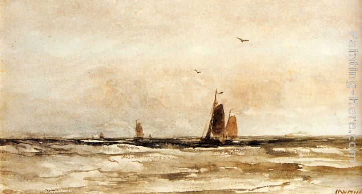 Seascape painting - Hendrik Willem Mesdag Seascape art painting