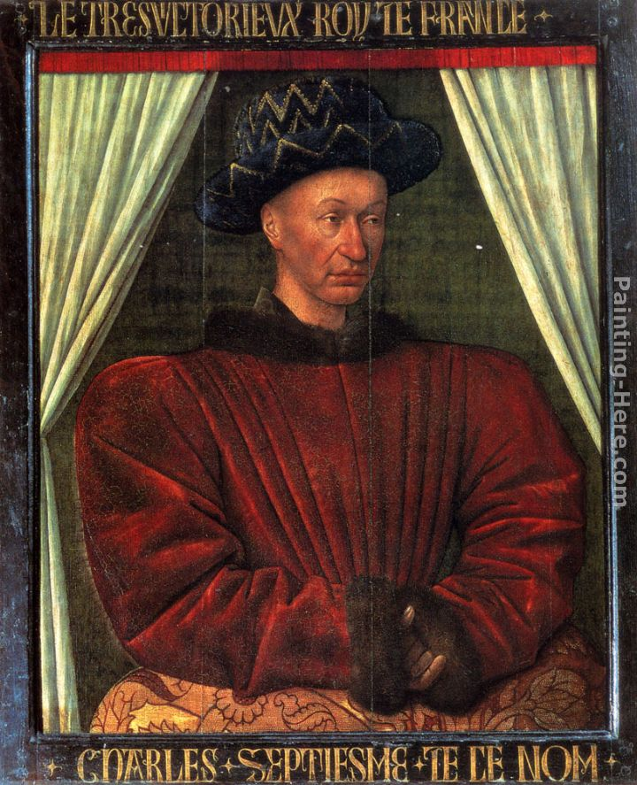 Jean Fouquet Charles VII, King Of France Art Painting
