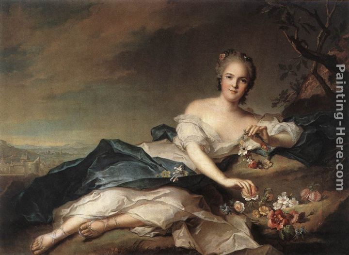 Marie Adelaide of France as Flora painting - Jean Marc Nattier Marie Adelaide of France as Flora art painting