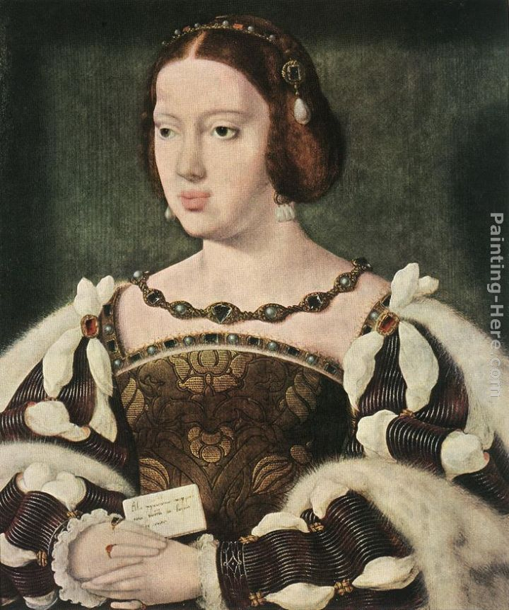 Portrait of Eleonora, Queen of France painting - Joos van Cleve Portrait of Eleonora, Queen of France art painting