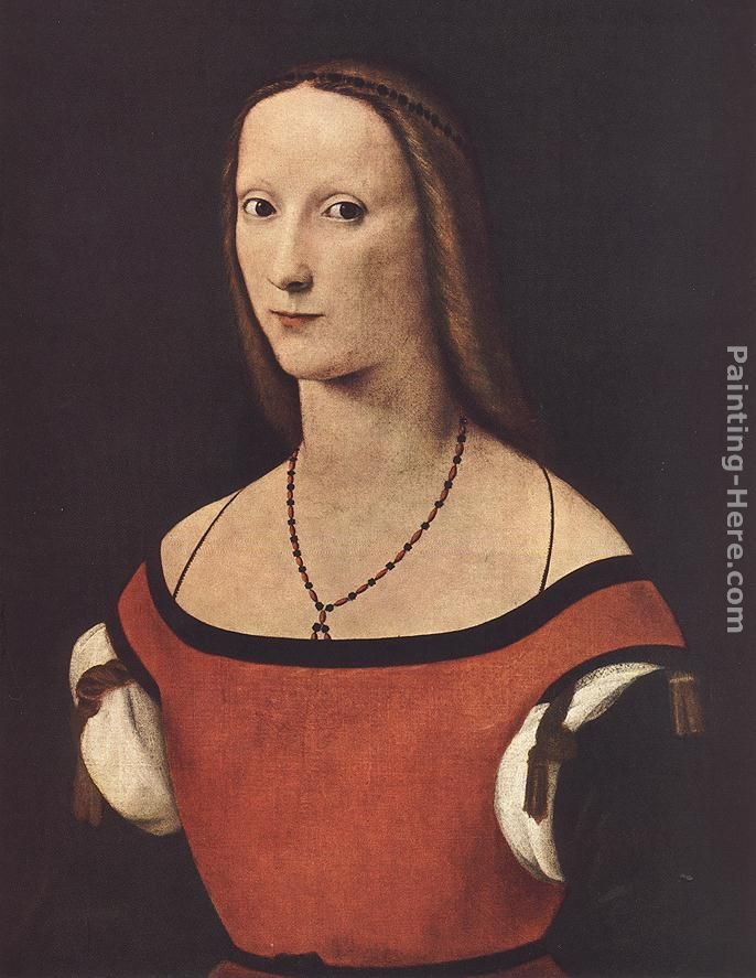Portrait of a Woman painting - Lorenzo Costa Portrait of a Woman art painting