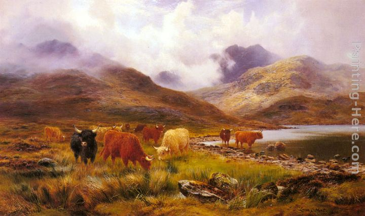A Misty Day in the Highlands painting - Louis Bosworth Hurt A Misty Day in the Highlands art painting