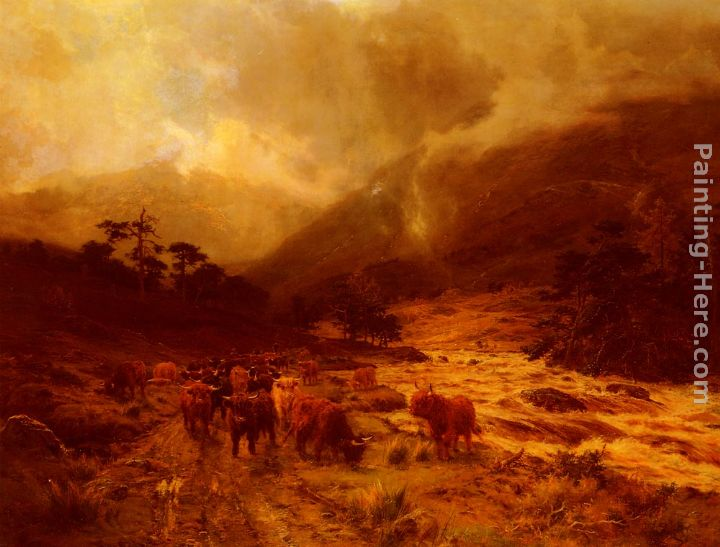 Louis Bosworth Hurt Glen Dochart, Perthshire Art Painting
