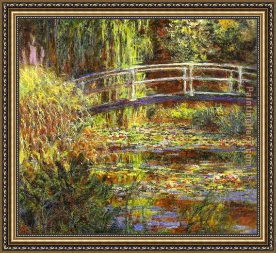 Claude Monet The Water Lily Pond Framed Painting
