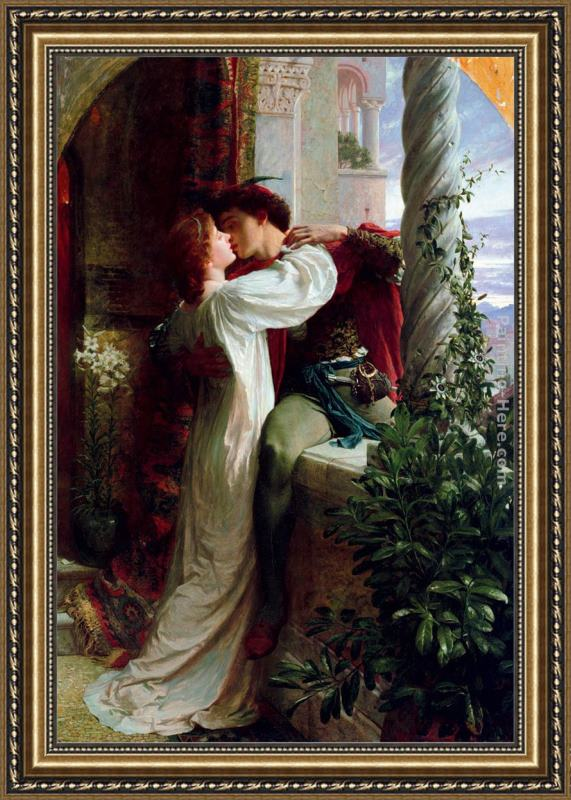 Frank Dicksee Romeo and Juliet cropped Framed Painting