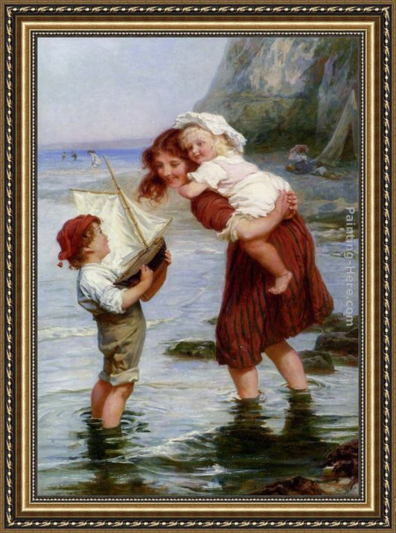 Frederick Morgan At Scarborough Framed Painting