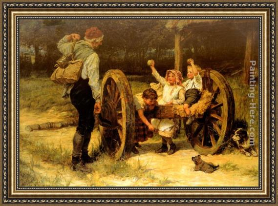 Frederick Morgan Merry as the day is long Framed Painting