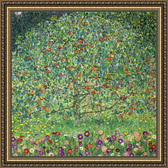 Gustav Klimt Apple Tree I Framed Painting