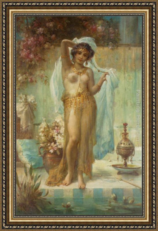 Hans Zatzka Dancing Beauty Framed Painting