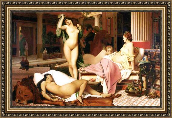 Jean-Leon Gerome Greek Interior Framed Painting
