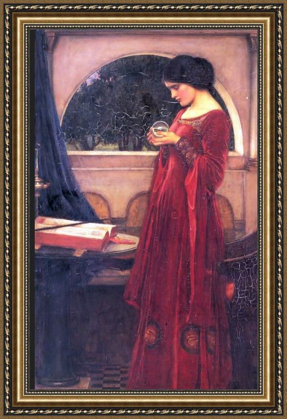 John William Waterhouse Crystal Ball Framed Painting