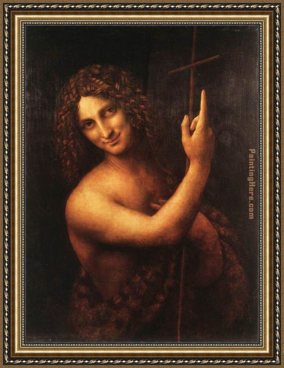 Leonardo da Vinci St John the Baptist Framed Painting