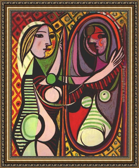 Pablo Picasso Girl Before a Mirror Framed Painting