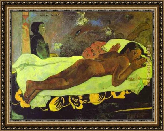 Paul Gauguin Manao tupapau Framed Painting