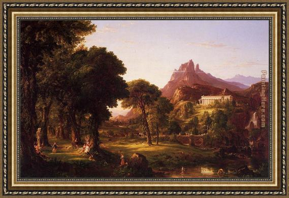 Thomas Cole Dream of Arcadia Framed Painting