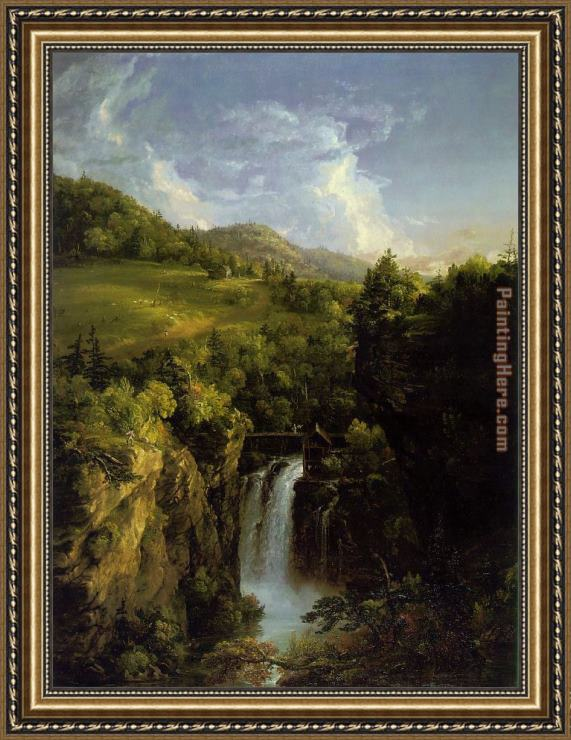 Thomas Cole Genesee Scenery Framed Painting